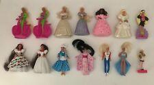 Lot of 14 Vintage 1990s Barbie Doll Miniature Figures & Stamp Mattel McDonald's