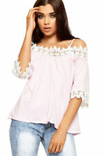 Maglie e camicie da donna rosa con lunghezza ai fianchi, taglia 42