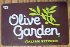 OLIVE GARDEN Italian Restaurant 2015 Collectible Gift Card NO CASH VALUE Rare