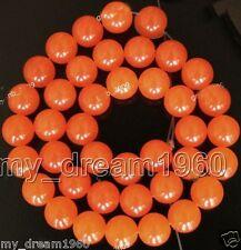 "8mm Natural Orange Jade Round Gemstone Loose Beads 15"" Strand AAA"