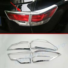 4X Chrome Rear Tail Light Lamp Cover Trim For Toyota Kluger 2014-2018 Accessory