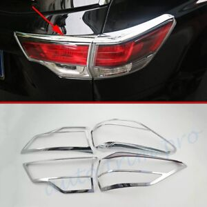Chrome Rear Tail Light Lamp Cover Trim For Toyota Kluger 2014-2016 Accessories