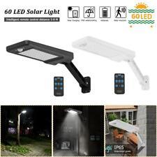 60LED Solar Wall Light PIR Motion Sensor IP65 Outdoor Garden Path Dimmable Lamp