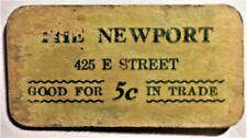 CARDBOARD GOOD FOR 5¢ THE NEWPORT CALIFORNIA NACHANT & ENHOLM DEPRESSION SCRIP