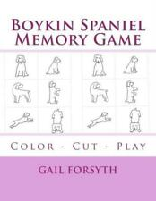 Boykin Spaniel Memory Game: Color - Cut - Play