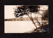 Postcard Lake Carey Shore Line 1907 Real Photo Wyoming County PA