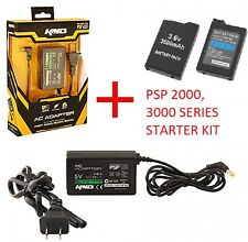 Replace 3.6V 3600 MAh Battery + 5V AC Adapter Charger for Sony PSP 2000, 3000