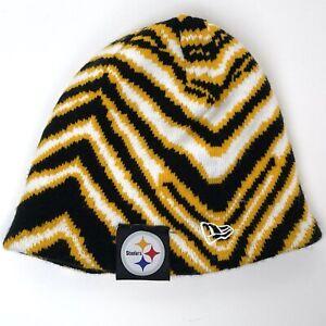 NFL Pittsburgh Steelers REVERSIBLE Knit Beanie Hat NEW ERA - Black/Gold/White