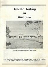 Vintage Publication - Testing Tractors In Australia - Univ Of Melbourne 6 Pages
