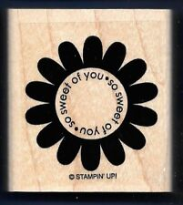 SWEET OF YOU DAISY Flower Design card words Stampin' Up! wood CRAFT RUBBER STAMP