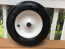 "16"" Tubeless Tire 4.80/4.00-8 Wheel, 5/8"" Axle for Wheelbarrows, Carts, Wagons"