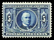 Scott 326 1904 5c Louisiana Purchase Issue Mint Fine+ OG LH Cat $70