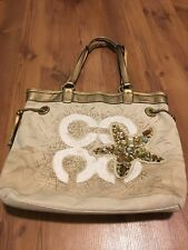Coach Audrey Starfish Canvas Leigh Slim Tote - Embellished - Metallic - Beach
