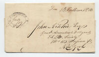 1831 Columbus Ohio double oval handstamp postmaster free frank [H.44]