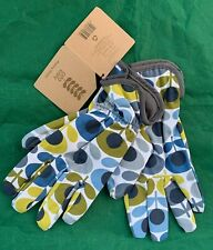 Orla Kiely potting gardening gloves 70s oval flower pattern one size BNWT