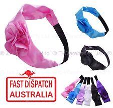 Wholesale 6 Headband Headbands Hair Head Band Wraps 3D Flower Satin