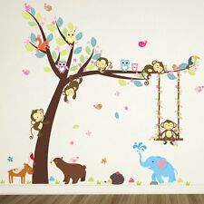 Removable Vinyl Wall Decal Nursery Stickers Kids Baby Room DIY Home Decor Tree