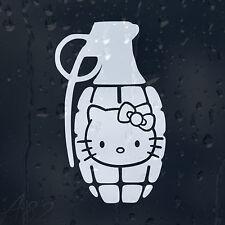 Hello Kitty Grenade Car Or Laptop Decal Vinyl Sticker Colour Choice