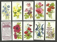 Wills cigarette cards - OLD ENGLISH GARDEN FLOWERS Series 2 - Mint full set