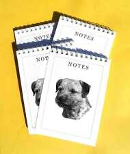 Border Terrier Pack of 4, A6 Dog Notepads Gift Set