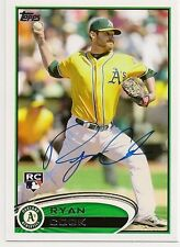 Ryan Cook Oakland A's Signed 2012 Topps Card