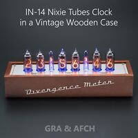 IN-14 Nixie Tubes Clock in a Vintage Wooden Case (Musical, USB, RGB, Arduino)