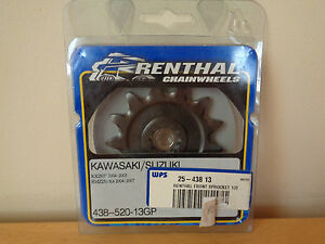 Renthal Kawasaki Suzuki KX250F 04-05 RMZ250 04-07 Front Sprocket 438-520-13GP