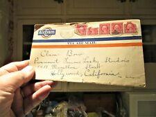 "Very Rare-Vintage 1928 Clara Bow Fan Letter ""Airgram"""