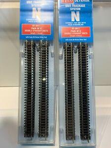 PECO N GAUGE ST-3011 8 PACK STRAIGHT TRACK CODE 80 NICKEL X2 PACKS