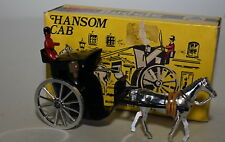 BUDGIE TOYS - No 100 - RARE BLACK HANSOM CAB - MINT AND BOXED