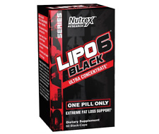 NUTREX LIPO 6 BLACK ULTRA  60 CAPS - STRONG FAT BURNER WEIGHT LOSS