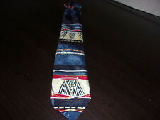 "Children's Boy's Blue Red White Clip-On Tie 14"" Cadet Classics Club"