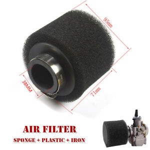 38MM For Motorcycle Sponge 2 layers Foam Air Filter Straight Cleaner ATV Element