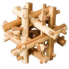 """Bambus-Puzzle """"magic sticks"""" IQ-Test Knobelspiel Holz"""