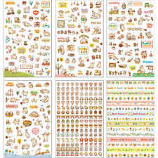 6 Sheets/Set Cute Cartoon Cat Paper Stickers for Scrapbooking Diary Decoration&