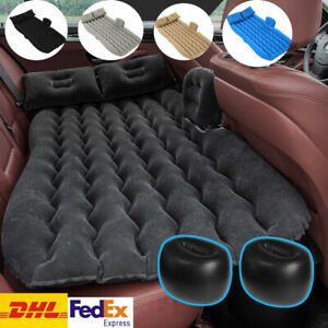Car Air Mattress Travel Bed Flocking Inflatable Car Bed For Camping Outdoor DHL