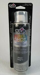 BLACK Tulip Color Shot Instant Fabric Color 3oz. Permanent Color Spray