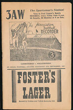 1947 Preliminary Final Sandringham v Williamstown Football Record Sep 27 VFA