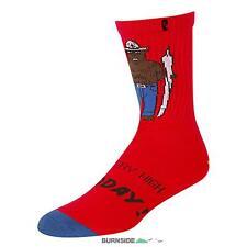 PSOCKADELIC Socks SMOKEY 1-Pair, red/brown |Halbhohe Socken Crew Socks