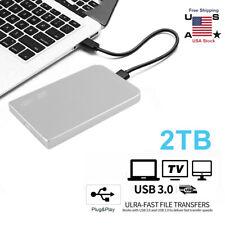 "2Tb Usb 3.0 Portable 2.5"" External Hard Drive Ultra Slim For Laptop Windows New"