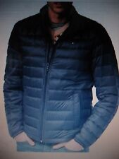 NWT Mens Tommy Hilfiger Navy Blue Nylon Packable Quilted Down Jacket Coat Large