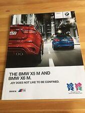 BMW X5M + X6M F85 F86 UK Car Sales Brochure, 2011 + Individual