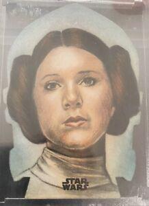Star Wars HUY TRUONG PRINCESS LEIA Diecut 1/1 Sketch! Sick!