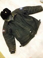Soviet Russian uniform military pilot Bomber coat (L) jacket + hat