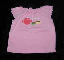 GYMBOREE TEA FOR TWO PINK TEAPOT TOP GIRLS 2T SPRING SUMMER