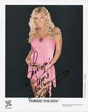 TORRIE WILSON Signed 10x8 Photo WWE WRESTLING DIVA Champion  COA