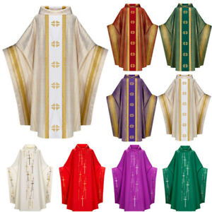 Medieval Men's Robes Missionary Priest Monk Shawl Cloak Cape Halloween Costume