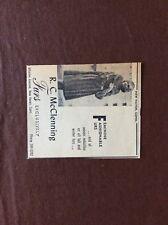 H1e Ephemera 1960s Advert R C Mcclenning Furs New Haven Conn