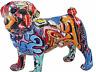 Graffiti art pug dog pet animal resin ornament figurine art ladies present gift