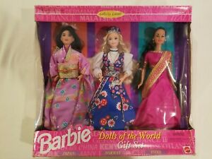 Barbie Dolls Of The World Collection Gift Set 3 Dolls 1995 Doll New Never Opened